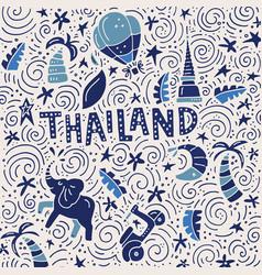 Thailand square concept vector