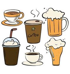 Drinks vector image