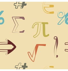 Seamless background with mathematical symbols vector