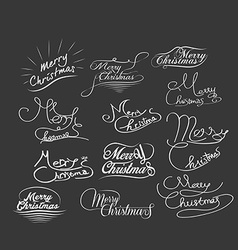 Hand-lettered christmas greetings - handmade vector
