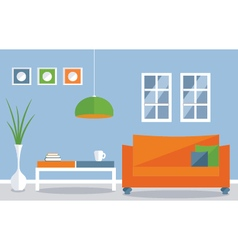 Interior decoration living room vector
