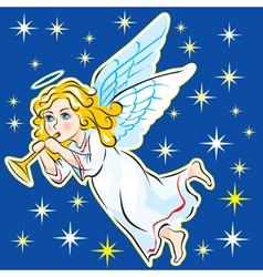 Angel in the sky vector