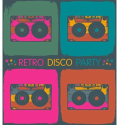 Audio cassette popart background vector