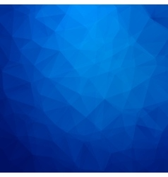 Abstract blue geometric triangle background vector image vector image