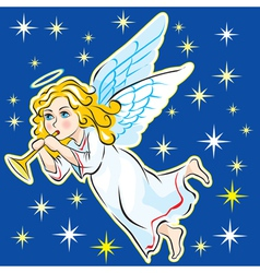 ANGEL IN THE SKY vector image vector image