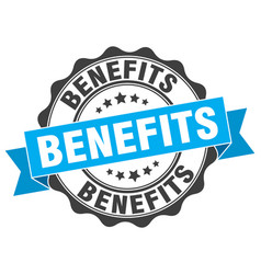 Benefits stamp sign seal vector