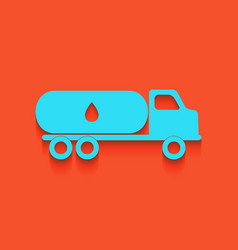 Car transports oil sign whitish icon on vector