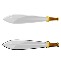 Cartoon sword eps10 vector image vector image
