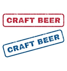 Craft beer rubber stamps vector