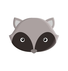 cute raccoon isolated icon vector image
