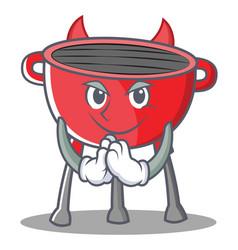 Devil barbecue grill cartoon character vector