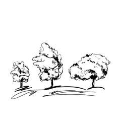 Doodles landscape background vector image