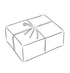 Drawing of box vector