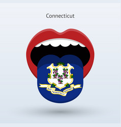 electoral vote of connecticut abstract mouth vector image vector image