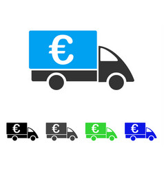 Euro collector car flat icon vector