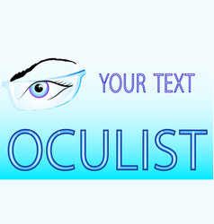 eyes and glasses oculist vector image vector image