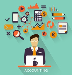 Flat design freelance career accounting vector image vector image