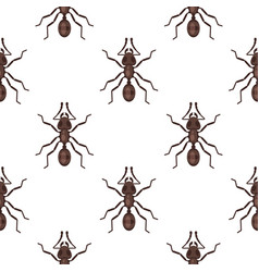 Flat style seamless pattern with ants vector