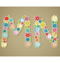 Floral alphabet vector image vector image