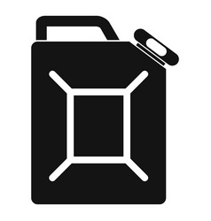 fuel jerrycan icon simple style vector image vector image