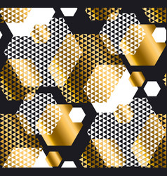 gold and black color elegant repeatable motif with vector image