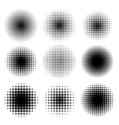 halftone effects set vector image