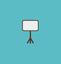 icon flat whiteboard element vector image vector image