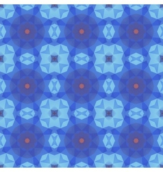 Kaleidoscope abstract blue pattern vector image vector image
