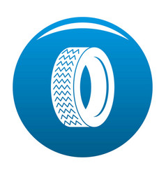 Machine tire icon blue vector