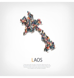 People map country laos vector