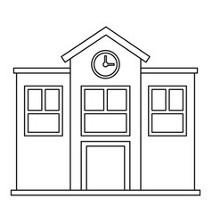 school icon outline style vector image