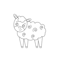 Sheep for coloring book vector image vector image