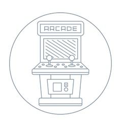simple line drawn vintage game arcade cabinet icon vector image vector image