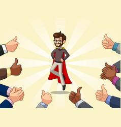 superhero hipster businessman vector image vector image