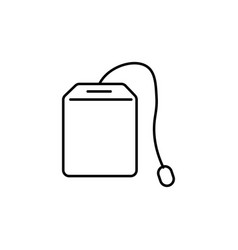 Teabag icon vector