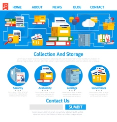 Archive Page Design vector image