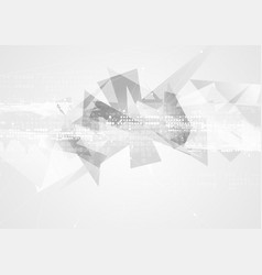 Grey technology geometric polygon abstract vector