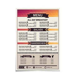 Restaurant menu template design vector