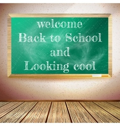 Back to school poster with chalkboard eps10 vector