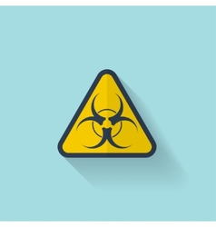 Bio hazard flat web icon vector