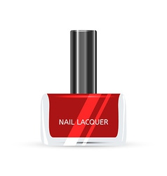 Red nail lacquer isolated on white background vector