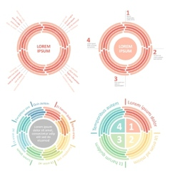 circle infographics diagram vector image