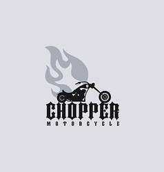Fire chopper motorcycle vector