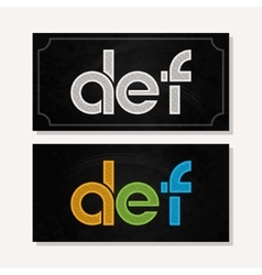 letter D E F logo alphabet chalk icon set vector image