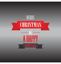 Merry christmas black background vector