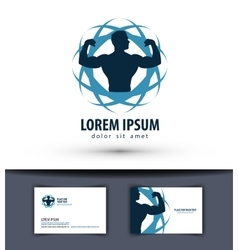 Sport logo design template fitness or gym vector