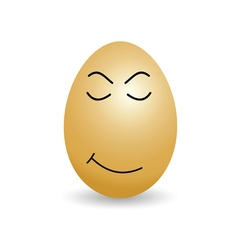 Egg sleep cartoon vector