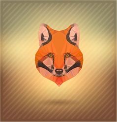 Abstract triangle polygonal fox snout vector