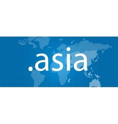 Dot asia map blue domain concept vector
