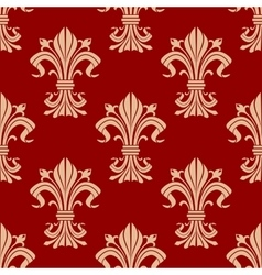 Victorian fleur-de-lis seamless pattern background vector